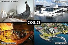 SOUVENIR FRIDGE MAGNET of OSLO NORWAY
