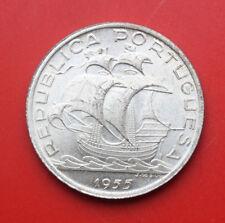 Portugal-Portuguesa: 10 Escudos 1955 Silber, KM# 586, F# 2480, UNC