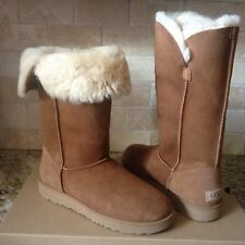 UGG Classic Tall Cuff Chestnut Water-resistant Suede Boots Size US 8 Womens