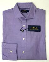 NWT $145 Polo Ralph Lauren LS Shirt Laundered Oxford Mens XL Purple NEW Cotton