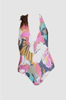 New $199 Billabong Swimwear Women's Pink Floral Day Drift One Piece Size S