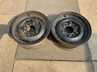 2-55-59 60 Chevy Gmc Truck 15x5.5 6 Lug Factory Gm Stamped Steel Wheels Withclip