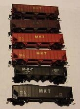 6 Assorted Atlas N Gauge MKT Hoppers