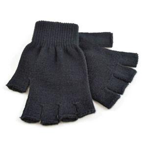 Mens RJM One Size Black Thermal fingerless Magic Gloves GL300