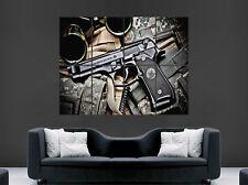 Cartel De Pistola Beretta Ejército Camo grande de pared Arte Impresión Foto