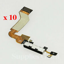 New Black Charging Port Dock Connector Flex Cable For iPhone 4S US Lot 10