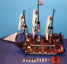 LEGO® brick 10210 USS CONSTITUTION Custom MOC Set w/8 Cannons 10 Minifigure Crew