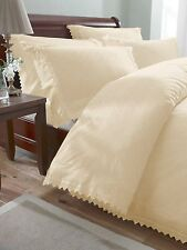 Broderie Luxury Balmoral Anglaise Embroidered Duvet Cover Set Cream King Size
