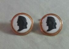 Mens Vintage 12K Gold Filled WEDGEWOOD ENGLAND CUFFLINKS Costume Jewelry GF 40