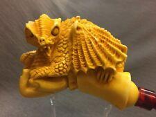 XL Dragon in hand Pipe BY SADIK YANIK Block Meerschaum-NEW W CASE