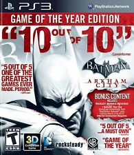 Batman Arkham City Game Of The Year Edition Black Label PS3 - LN