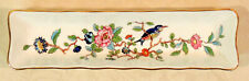 Aynsley Pembroke pin/mint/pen dish blue bird pink flowers scalloped gold trim