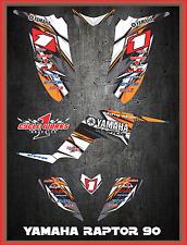 Yamaha Raptor 90 SEMI CUSTOM GRAPHICS FREE CUSTOMIZATION KIT LIGHTNING3