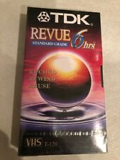 TDK REVUE BLANK, NEW, FACTORY SEALED 6 Hrs VHS T-120