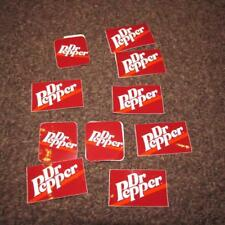 Vintage lot of 10 Dr Pepper  Stickers Soda Pop Machine Labels