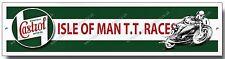 CASTROL ISLE OF MAN TT RACES HIGH GLOSS FINISH METAL SIGN,RETRO,GARAGE,WORKSHOP,