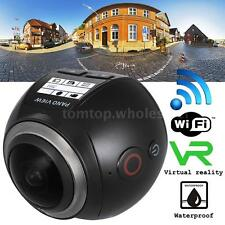 WiFi 4K 360°Panoramic Ultra HD 2448P Camera Sport DV Action Driving VR Camcorder