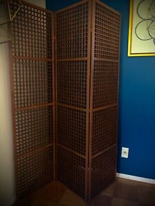 ~1960s Teak Room Divider 3 Panel MCM vintage mid century modern