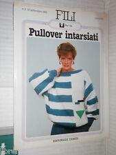 FILI PULLOVER INTARSIATI Editoriale Domus Fili 2 1983 manuale corso libro di