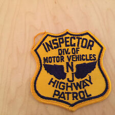 highway patrol,NJ,inspector div. of motor vehicles patch,60's new old stock