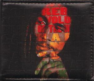 BOB MARLEY Face Printed All Sides Theme Bifold Black Wallet Rock Merchandise