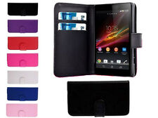 Magnetic Leather Book Flip Wallet Cover Pouch Case Card Slots For Sony Xperia