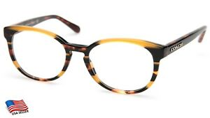 COACH HC 6102 5440 Black Amber Gltr Varsity Stripe EYEGLASSES 51-18-140 B41mm