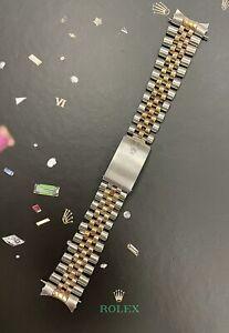 Rolex Date Men's 14k Gold/ Steel Jubilee 20mm Bracelet 62510H Band 455 Ends16233