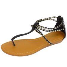 Sandalias con tiras de mujer negro sin marca