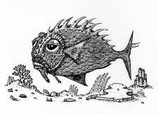"David Welker ""Lonious Fish"" Letterpress Variant Poster Art Print Edition of 100"