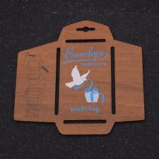 DIY Envelope Template Retro Wooden Envelopes Maker Stencil Mould User Manual