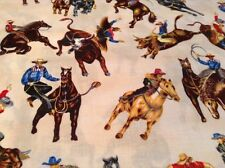 Fabric Horses & Cowboys, West-C5918, sold by the yard