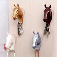 Animal Horse Head Wall Mount Hook Hanger Rack Holder Home Room Decor Q