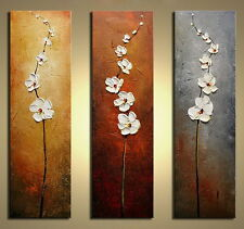 Large Framed Canvas Oil Painting Home Decor Abstract Flowers Wall Art Framed