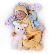 Silicone Vinyl 22'' Reborn Baby Dolls with Realistic Sleeping Smile