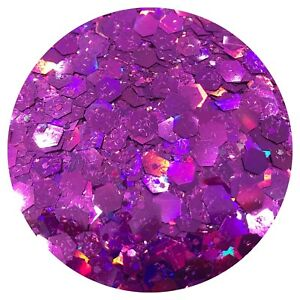 MAGNIFICENTLY PURPLE CHUNKY GLITTER Nail Art, Body FESTIVAL *PICK YOUR  BAG*