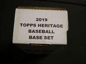 2019 TOPPS HERITAGE BASEBALL COMPLETE BASE CARD SET #1-#400