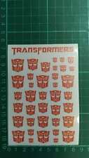 Transparent Clear Transformers G1 Autobot Symbol Sticker Decal for Custom
