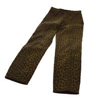 FENDI Vintage Leopard Pattern Long Pants Brown Black Authentic AK31581b