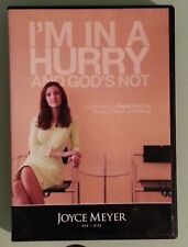 joyce meyer  IM IN A HURRY AND GODS NOT    DVD