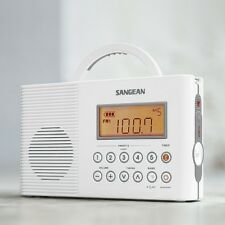 Sangean H201 AM/FM/Weather, Digital tuned Waterproof Shower Radio, White New