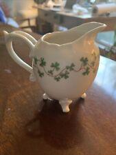 Vintage Shannon Fine Porcelain Irish Shamrocks ~  Small Pitcher ~ Creamer