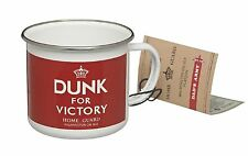 Dads Army Retro Coffee Mug Tea Cup Retro Red Enamel Military Dunk For Victory UK