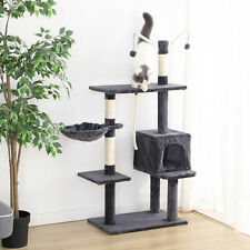 New listing 53''Condo Cat Tree Play House Climber Activity Tower Stand Kitten Play Scraching