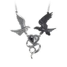Stunning Alchemy Gothic - Epiphany of St Corvus Raven Heart Necklace Pendant