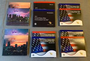 Uncirculated Mint Set Lot of (6). 2009, 2010, 2011, 2013, 2014, 2015