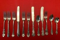 12 Mixed Pattern Silverplate Vintage CHILD  BABY Flatware Craft or Display Lot
