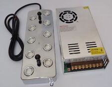 10 head Ultrasonic mist maker Industry fogger humidifier +Power Supply 110V/220V