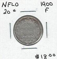 Canada Newfoundland NFLD 1900 20 Cents F
