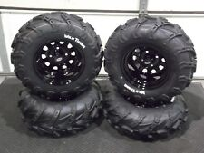 "HONDA RANCHER 350 (SRA) 25"" WILD THANG ATV TIRE ITP BLACK ATV WHEEL KIT COMPLETE"